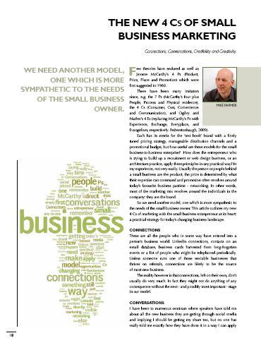 the new 4cs of small business marketing cambridge marketing press