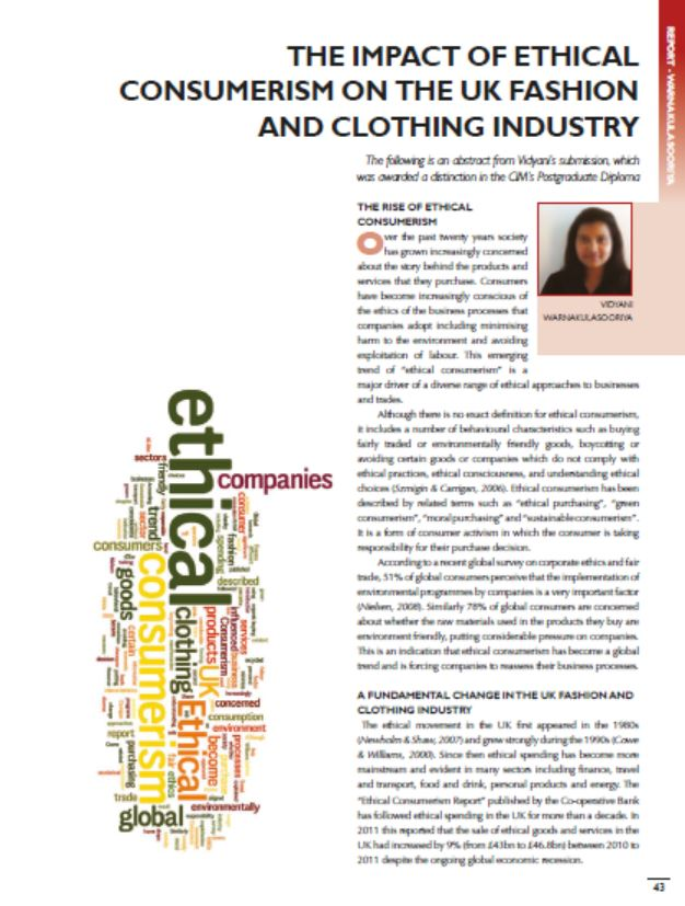The Impact of Ethical Consumerism on the UK Fashion and Clothing Industry